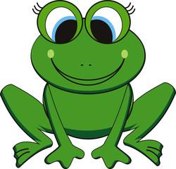 vector illustration of  happy frog