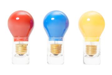 three light bulbs in a row