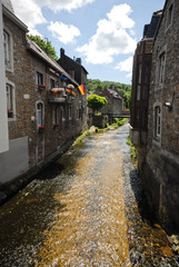 River in old german town