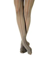 Feet in striped stockings