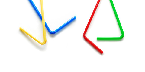 Four Straws In Different Colors