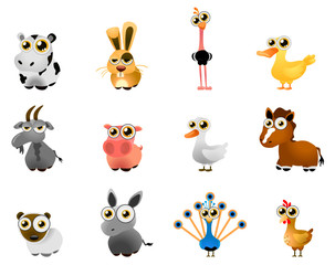 farm animal vector - cartoon series 7