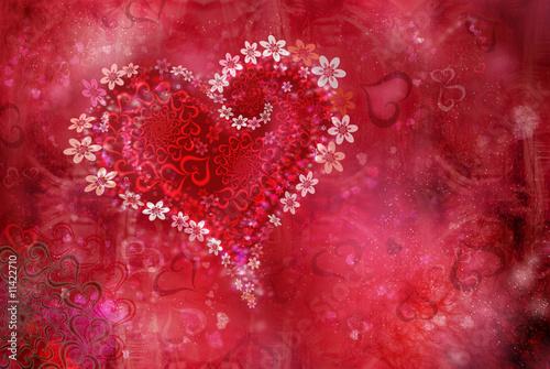 сердце фон скачать