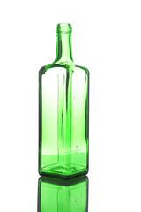 Wine Bottle on white