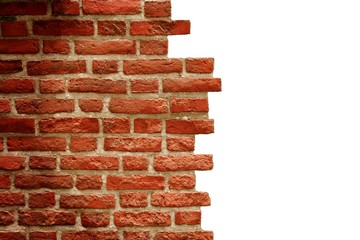 Old brick wall with white copy space