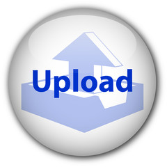 """Upload"" button (white/blue)"