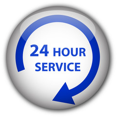 """24 Hour Service"" button (white/blue)"