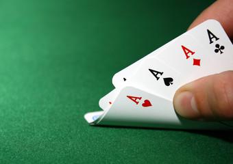 poker: 4 aces