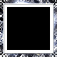 Silver Halftone frame