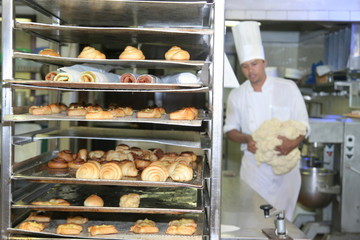 Zelfklevend Fotobehang Brood bakery and pastry industry