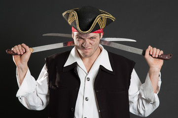 dirty pirate with two sabres