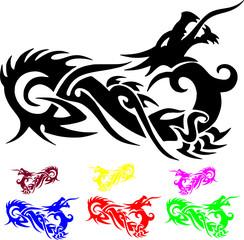 dragon vector silhouettes