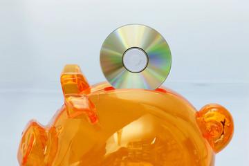 Sparschwein mit CD