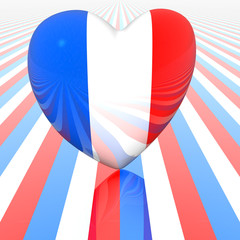 heart with french flag