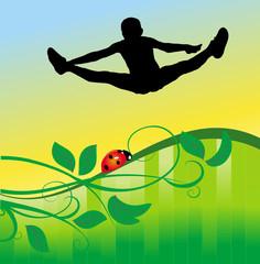spring sport siluette