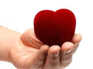 man's hand gidting heart