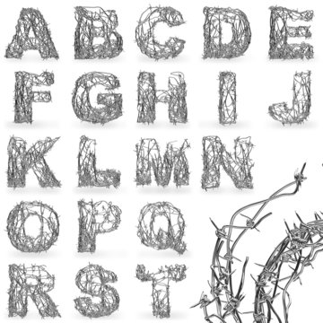 Barbed wire font