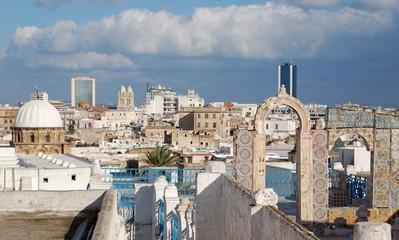 Poster de jardin Tunisie terrasse de la medina de tunis