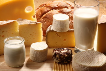 fromages, produits laitiers