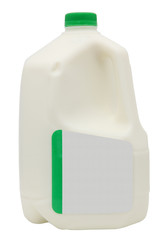 Gallon of Milk with Clipping Path