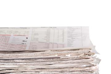Newspapers stockpile