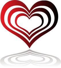 heart insert red
