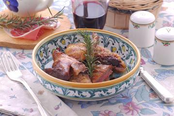 Faraona arrosto - Secondi di carne Emilia Romagna