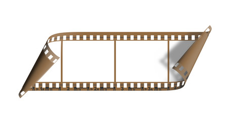blank film with curls