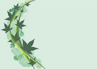Hintergrund mit Blätter