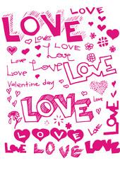 vector words love