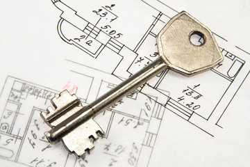 Architectural plan and key