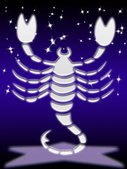 scorpio greeting card of zodiac sign