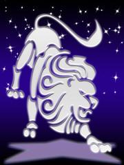 leo greeting card of zodiac sign
