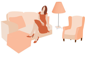 sitting room (vector)
