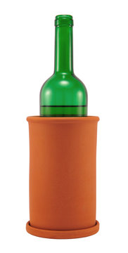 Wine cooler with bottle
