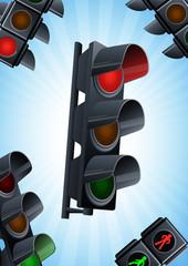 Traffic light background
