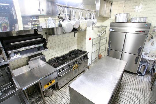 kitchen of the restaurant
