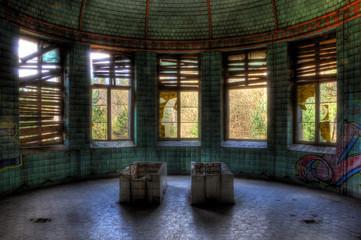 Foto op Canvas Oud Ziekenhuis Beelitz Beelitzer Symmetrie