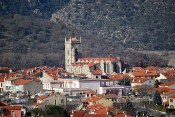 Le petit village de Vinça
