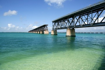 Florida keys broken bridge, turquoise water