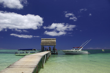 Embarcadère à l'Ile Maurice