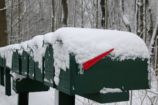 Mailboxes in Snow