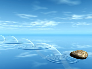 pierre sur l'eau