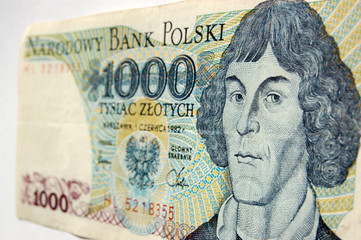 Copernicus on banknote