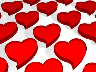 Red Crystal Hearts