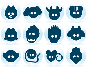 Chinese calendar icons
