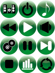 Set of vector icons - music theme