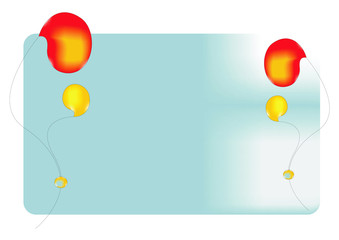 Bright balloons on a blue background. Abstract picture.