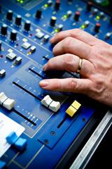 Hand on sound control board