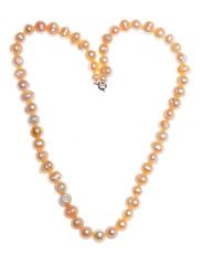 heart shaped pearl neckless